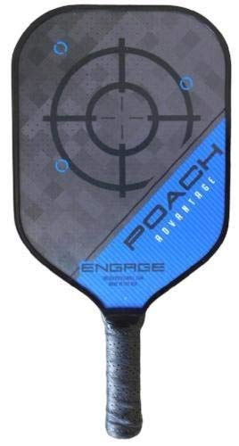 Engage Poach Advantage Black Edition Pickleball Paddle (Blue, Lite (7.5-7.8 oz))