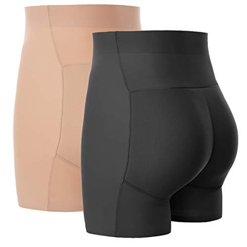 FEOYA High Waist Butt Lifter Shapewear Seamless Padded Underwear Hip Enhancer Panties Tummy Control Body Shaper