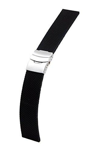 24mm Sports Silikon Armband Strap Uhrenarmband mit Metall schließe + Werkzeug für Sony Smartwatch 2 SW2 Schwarz