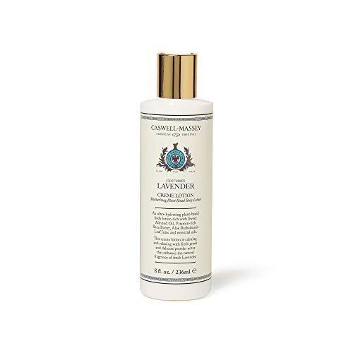 Caswell-Massey Centuries Lavender Creme Body Lotion – Plant-Based Body Moisturizer With A Fresh Lavender Scent, 8 oz