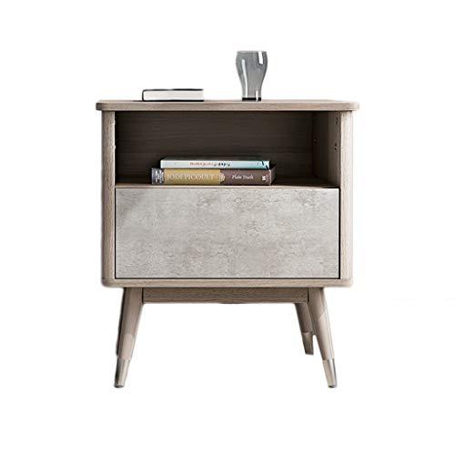 TXXM Nachttisch Schlafzimmer Spind, Schlafzimmer Nachttisch, Wohnzimmer Locker, Wohnzimmer Sofa Seitenschrank (Color : Gray, Size : 50 * 41 * 55cm)