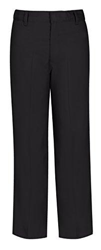 Classroom Uniforms Big Boy's Uniform Flat Front Pant with Adjustable Waist, Black, 14