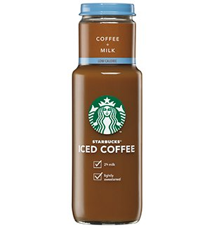 Starbucks Iced Coffee 11oz Glass Bottle - Low Calorie Coffee (Pack of 12)