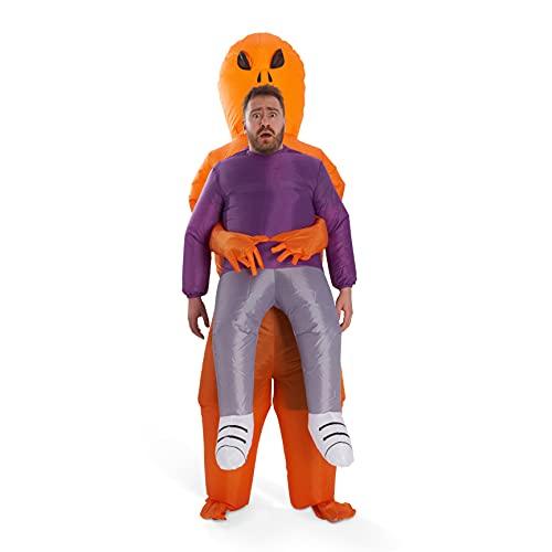 THE TWIDDLERS Disfraz Hinchable de Alien - Disfraz de Halloween | Divertido Aliengena Disfraz de para Cumpleaos, Fiesta, Halloween