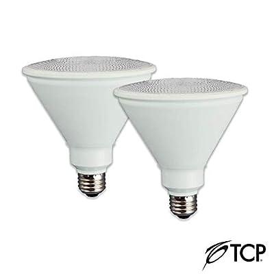 TCP L90P38D15V50KFL2 LED Flood Light Bulbs Dimmable Outdoor PAR38 Wet Location, 2 Pack, Daylight (5000K), 2 Count