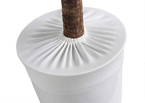 LYLANI Blumentopfschutz, innovatives Design, hochwertiger Stoff (Durchmesser: 44-46 cm, Wollweiß)