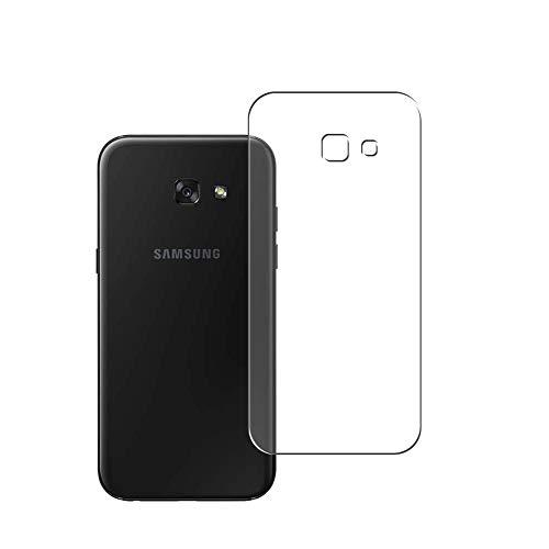 Vaxson 2 Unidades Protector de pantalla Posterior, compatible con Samsung Galaxy A7 2017 A720 [No Vidrio Templado] TPU Película Protectora Espalda Skin Cover