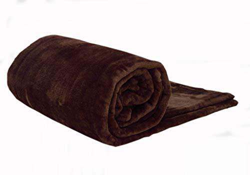 Uarehome Tagesdecke, Überwurf aus Kunstnerz, luxuriöse, warme, weiche Decke, für Doppelbett, Kingsize-Bett, 100 % Polyester, schokoladenbraun, King 200 x 240 CM