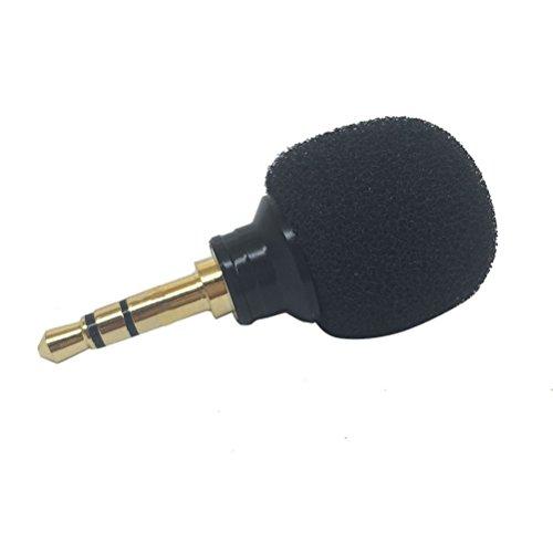 WINOMO Mini Microfono Stereo per PC Portatile iPhone Android Windows Smartphone Plug e Play (Nero)