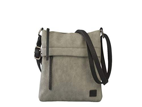 STEFANO Moderne Damen Crossover Tasche Umhängetasche Schultertasche Frauen Shopper PU Verschiedene Modelle (M3 grau/schwarz)