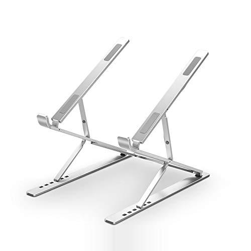 TIUENHAVU Laptop Stand Dual Adjustable Notebook Holder Stand Portable Support Notebook Stand Riser Bracket Silver