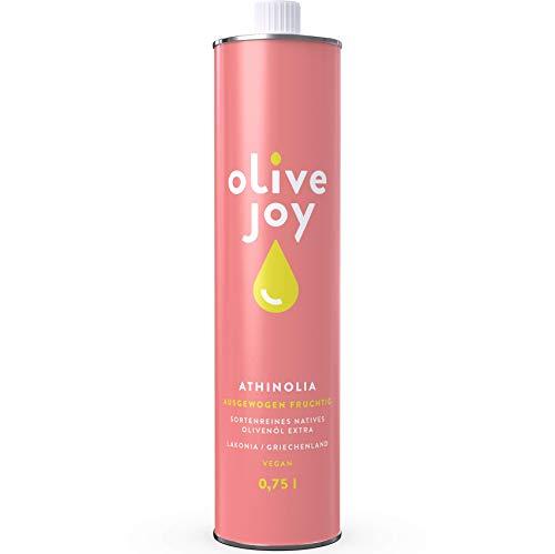 Natives Olivenöl extra olive joy   Reines kaltgepresstes Olivenöl aus griechischen ATHINOLIA Oliven   Leicht Pikant   Jahrgang 20/21   vegan   0,75l Olivenöl Flasche   Ideal für Paleo Diät