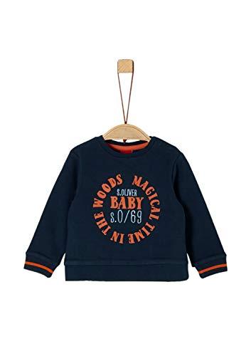 s.Oliver Baby-Jungen 65.909.41.2758 Sweatshirt, Blau (Dark Blue 5952), (Herstellergröße: 86)