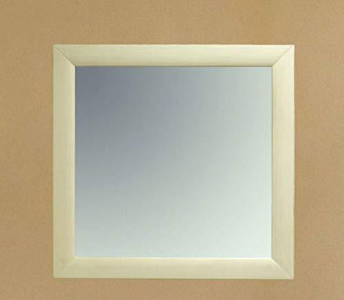 Soma Wand-Spiegel 90 x 90 cm mit Massivholz-Rahmen Quadro, Pinie massiv (BxHxL) 90 x 3 x 90 cm Pinie weiß gekälkt