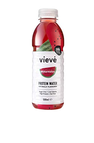 Vieve Protein Water 6x500ml - Watermelon | 20g Protein, Sugar Free, Fat Free & Dairy Free | A Ready to Drink Alternative to Protein Powders & Shakes | 6 Pack