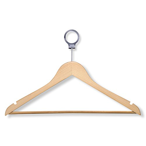 HoneyCanhDo HNG-01733 Hotel Suit Hangers Maple 24-Pack