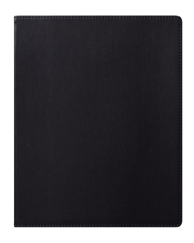 Eccolo World Traveler Simply Black Lined Journal, 8 x 10-Inch