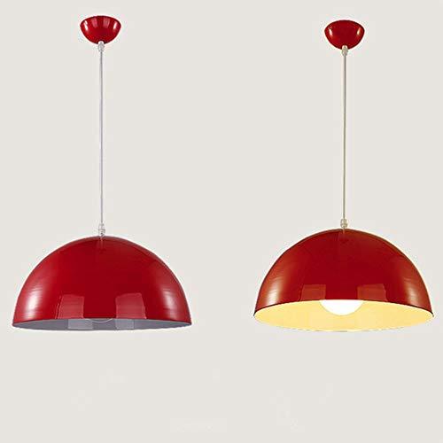 FICI 1 stuk Creativiteit Halve cirkel Hanglamp Kap Hangende plafondlamp Lampenkap Home Restaurantdecoratie, rood