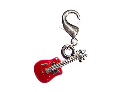 Miniblings Eléctrica Guitarra Charm Pulsera Encanta la Banda de música roja