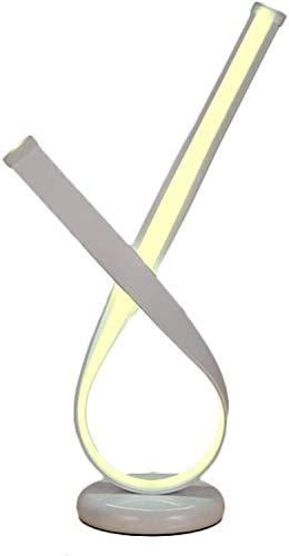 YLSP Nórdico Minimalista De Aluminio Acrílico Lámparas LED, Iluminación De Diseño Moderno Y Minimalista For El Dormitorio De Noche Salón (Color: Oro) (Color : White)