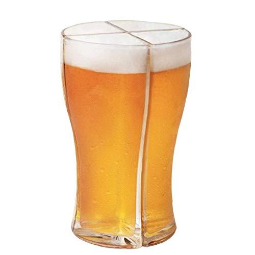 Super Schooner kubki do piwa zestaw 4 w 1 połączona szczelność do picia śmieszne piwo akrylowe kubki na przyjęcia bary do domu karaoke