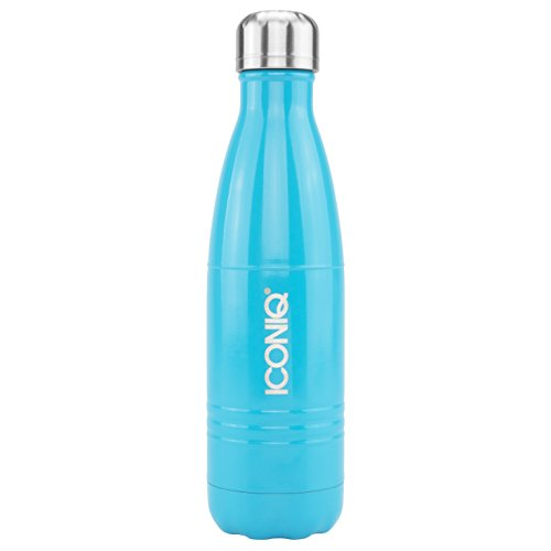 ICONIQ Stainless Steel Vacuum Insulated Water Bottle, 17 Ounce (Rose Gold)