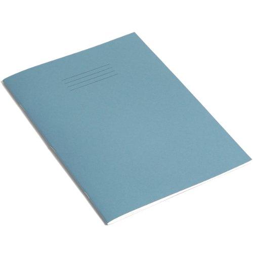 RHINO B-Quaderno formato A4, 64 pagine bianche, colore: blu (confezione da 10)