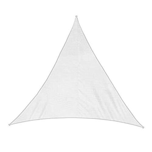 GZHENH-Sichtschutznetz Sonnensegel 3D Ziehring Dreieck Terrasse Sonnencreme Antialterung Faltbar Polyester, 10 Farben 5 Größen (Color : White, Size : 5x5x5m)