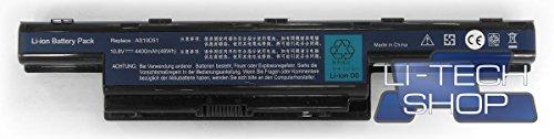 LI-TECH Akku kompatibel mit Code Acer PACKARDBELL AS10D5I Notebook Neuer Computer