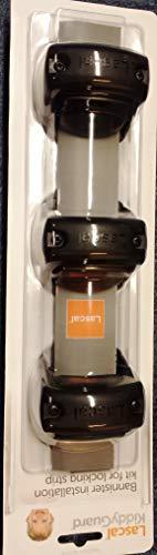 Lascal KiddyGuard Avant/Accent/Assure Rohrhalterung für Verschlussleiste, Stangenhalterung für runde und eckige Geländer bis 50 mm Durchmesser, 3er-Set Rohrschellen, schwarz