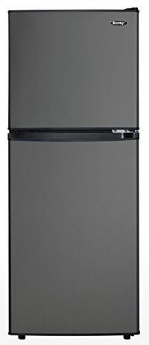 Danby DCR047A1BBSL 4.7 Cu.Ft. Compact Refrigerator, Energy Star Rated Mini Fridge with Auto Defrost and Mechanical Thermostat, Ideal for Apartments, Dorms, Trailers, Cottages, and Condos