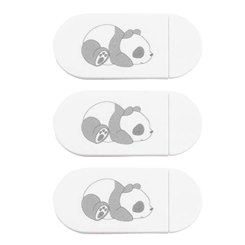 SOLUSTRE Webcam Cover Slide Cute Pattern Web Camera Cover,Thin Fits for Laptop MacBook Pro iMac Air Computer Smartphones Tablets Protect Your Privacy and Security Strong Adhesive White(3Pack)