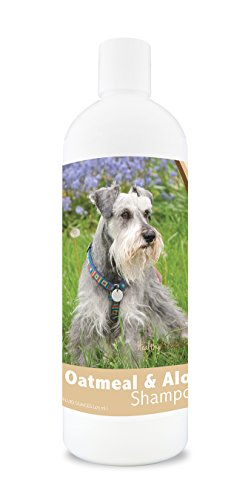 Healthy Breeds Dog Oatmeal Shampoo with Aloe for Miniature Schnauzer - Over 75 Breeds – 16 oz - Mild and Gentle for Itchy, Scaling, Sensitive Skin – Hypoallergenic Formula and pH Balanced