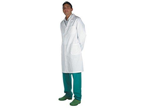 Gima - Weisser Arztmantel aus Baumwolle und Polyester, mit Knöpfen, für Herren, Größe XXXL, für Ärzte und Medizin-/Biologiestudenten, für Kliniken, Krankenhäuser, Arztpraxen und Apotheken.