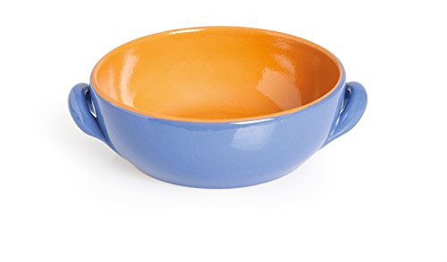 Excelsa Antichi Sapori Casseruola, Ceramica, Azzurro, 18x18x7 cm