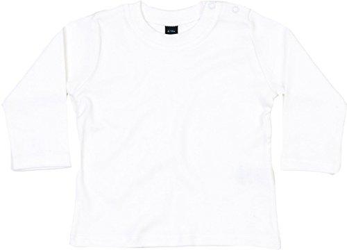 Babybugz- T-Shirt à Manches Longue pour bébé Fille, Mixte, Blanc - Blanc, 3-6 Meses