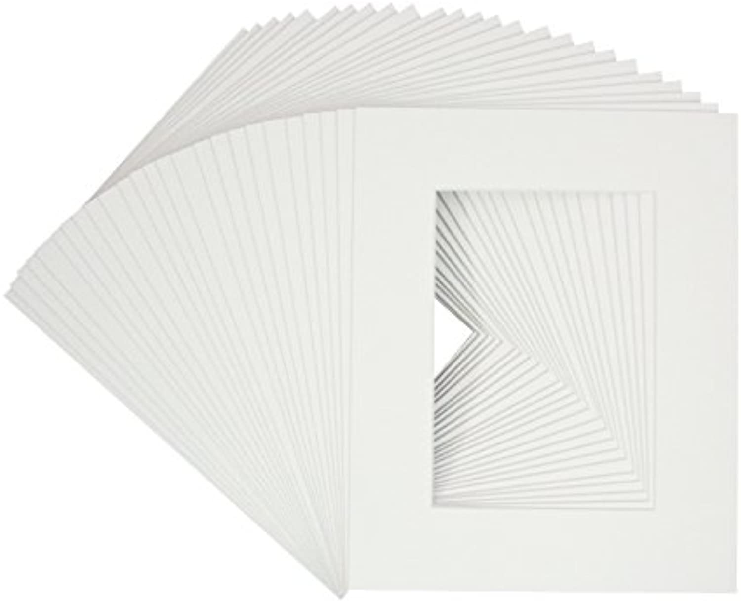 100 8x10 Pre-cut Mats White color Whitecore Fits 4x6 Pictures