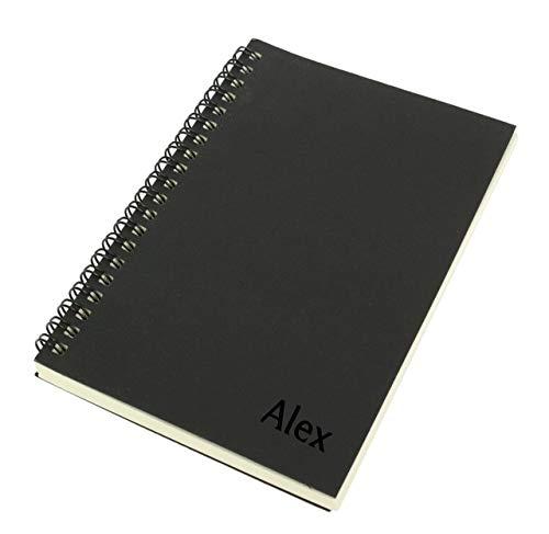 Bloc, cuaderno de notas. Cubierta de kraft negro. 80 Hojas blancas para escritura o dibujo. Block de bocetos arquitectura. Semirrígido.