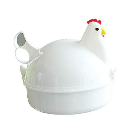 WFZ17 Eier-Dämpfer, Huhnform, 4 Eier, Dampfgarer für Küche und Mikrowelle multi