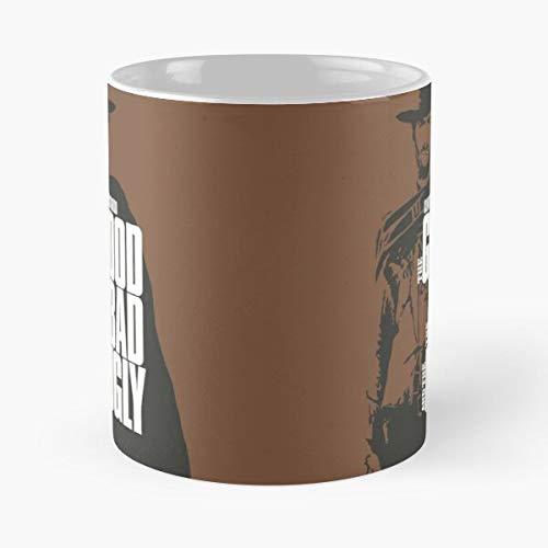 Good The Bad Film and Clint Clinty Ugly Movie Cult Eastwood Best Taza de café de cerámica de 11 onzas