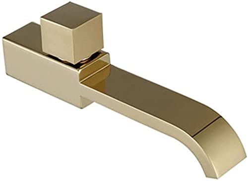 Grifo Golden Brushed Bathroom Faucet Single Cold Wall-Mounted Brass Faucet Outdoor Garden Faucet Sink Faucet DecorationG1/2 Interface