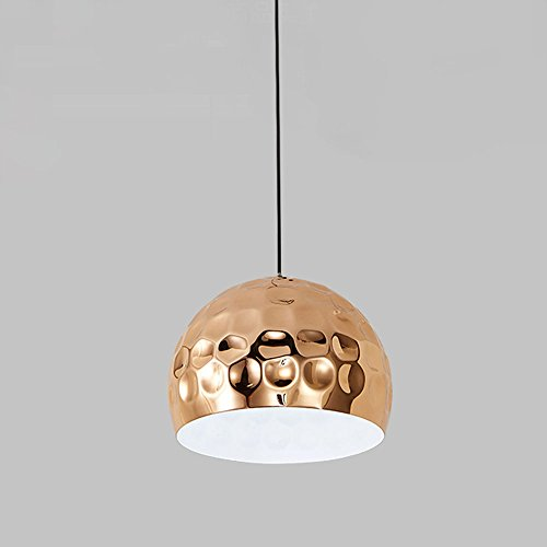 Lamp met hanger, rond, eenvoudig, modern, enkele kop van ijzer, metaal, E27 decoratieve lamp 40 W voor restaurant, woonkamer, studeerkamer