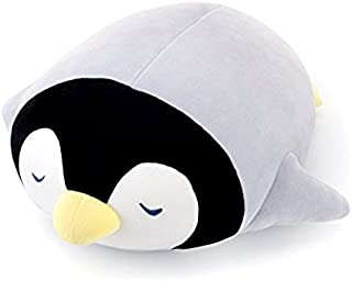 Me Too Kids Pillows Stuffed Animal Sleeping Penguin Dolls Super Soft Plush Cotton Baby Pillow Gifts for Kids Adult Toys Grey 17 Inches