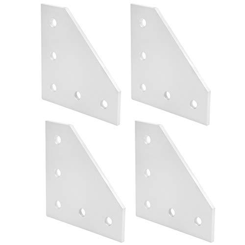 SALUTUYA Placa de unión práctica, Placa de conexión, 4 Piezas para Proyecto de Robot de Impresora 3D para enrutador CNC de la Industria de la construcción(3030L Type)