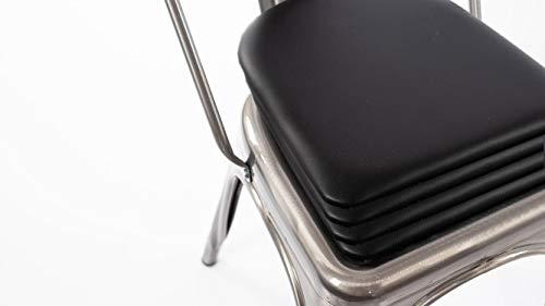 Cojín para respaldo redondeado: se adapta a sillas y taburetes industriales, modernos, de tipo granja, hecho a mano en Estados Unidos (4 unidades)