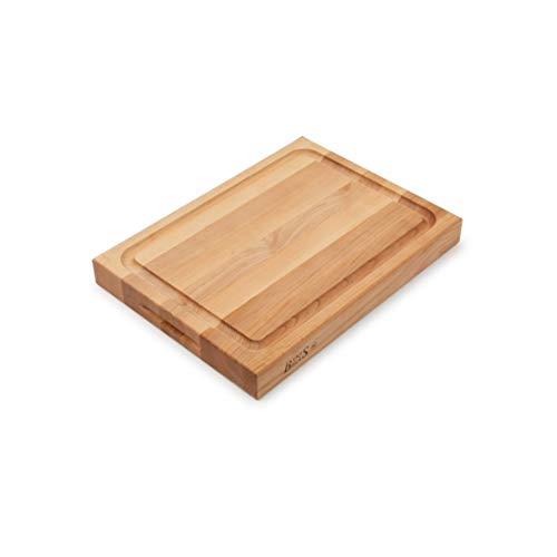 John Boos Block RA02-GRV Maple Wood Edge Grain Reversible Cutting Board with Juice Moat, 20 Inches x 15 Inches x 2.25 Inches
