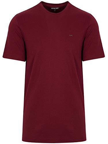 Michael Kors Elegante Logo Camiseta en Merlot