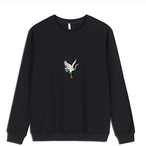 WLZQ Herbst Und Winter Herren Pullover Paar Trend Große Lose Rundhals-Sweatshirt Pullover Pullover Langarm T-Shirt Asien Größe
