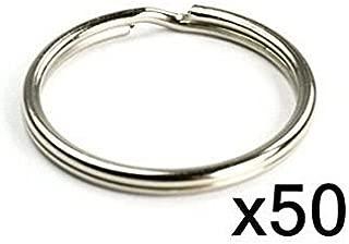 Split Key Rings Nickel Plated Steel (Pack of 50)