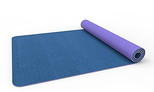 Azanaz TPE Gymnastikmatte,DREI Schichten rutschfest Yogamatte Gut Für Anfänger Bei Yoga Für Fitness Pilates&Gymnastik, 183 x 61CM Mit Yogatasche